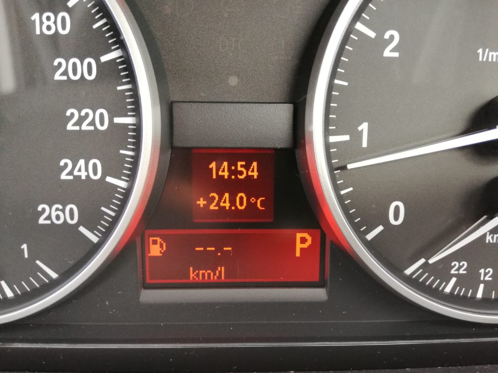実録!中古BMWの燃費の表示方法とリセット方法