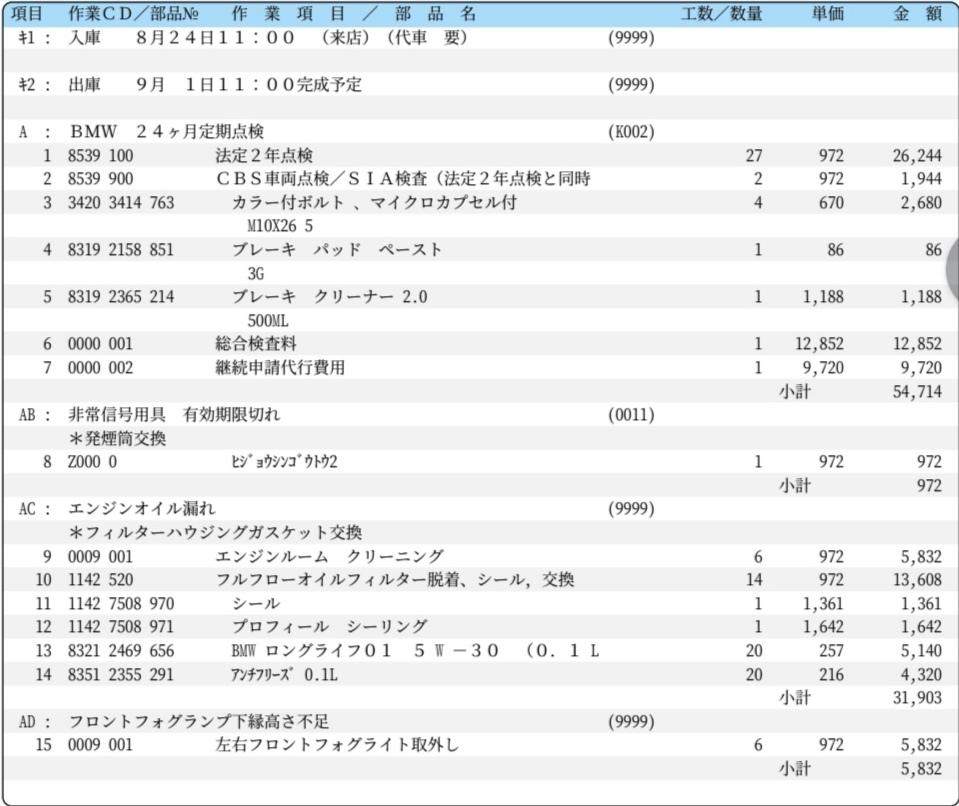 ディーラー車検は高額!?BMW 3シリーズ E90 車検費用公開!